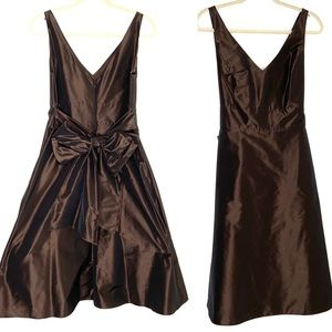 Ann Taylor chocolate brown special occasion dress